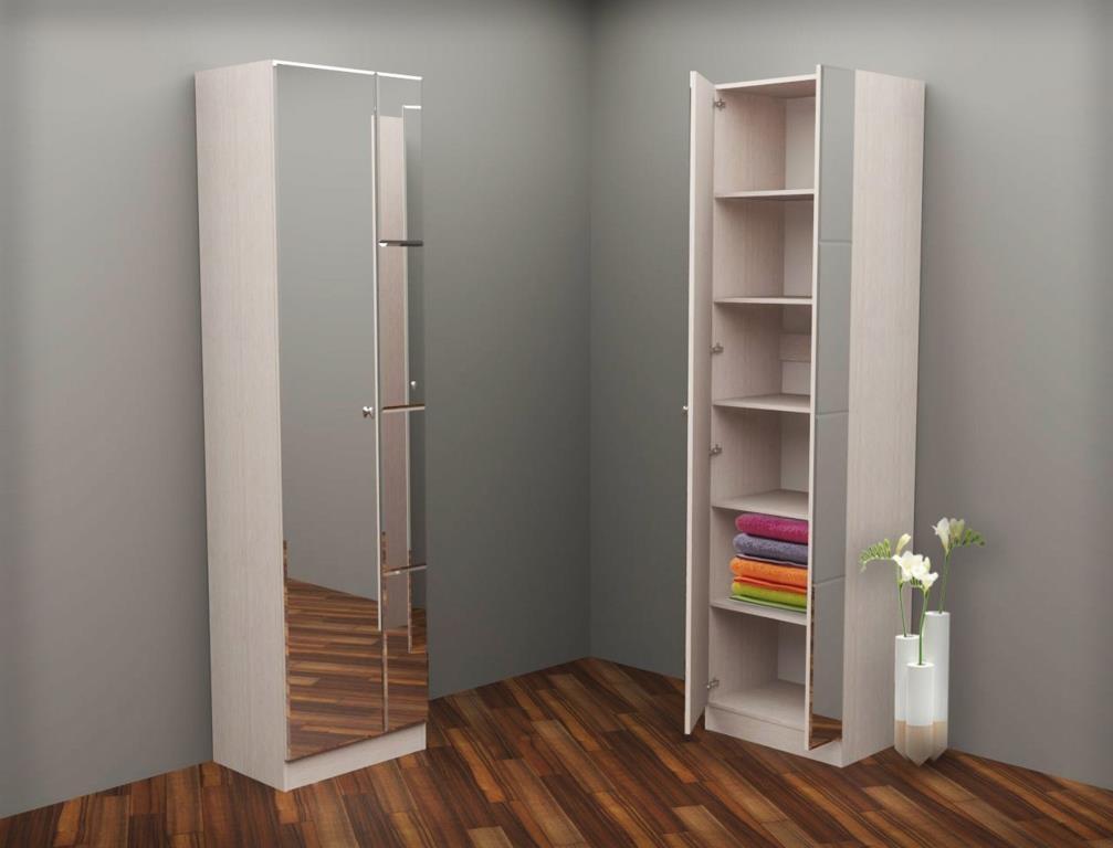 Шкаф зеркальный - купить шкаф в комнату с зеркальными дверям.
