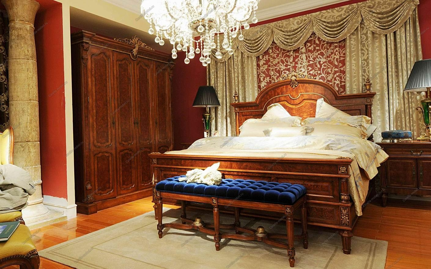 классическая мебель для спальни людовик 16 комплекты спален купить